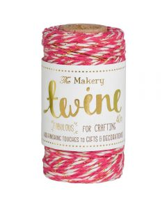The Makery Bakers Twine - Strawberry and Gold