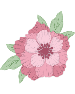 Crafter's Companion Nature's Garden Peony Collection Stamp and Die - Layered Peony