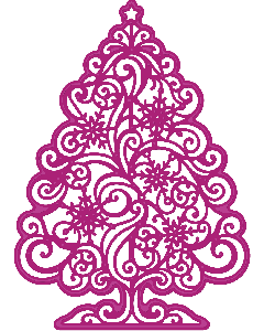 Gemini Create-a-Card Cut on Edge Christmas Metal Die - Sparkling Tree
