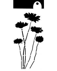 IndigoBlu 6x3 Stencil - Daisies