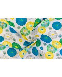 Threaders Tokyo Blue Fabric - Oriental Blooms