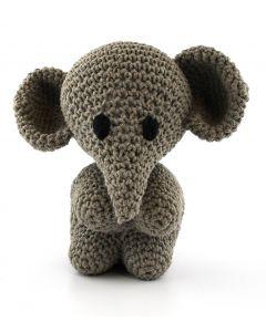 Hoooked DIY Eco Barbante Mo Elephant Crochet Kit - Taupe