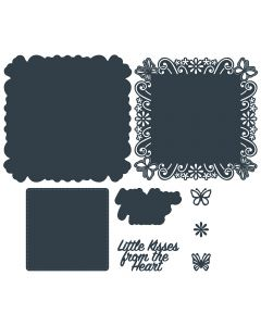 The Paper Boutique Die Collection - Little Kisses from the Heart