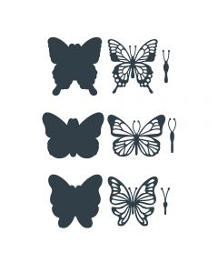 The Paper Boutique Die Collection - Butterfly Embellishments