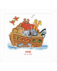 Groves Counted Cross Stich Kit Birth Record - Noah's Ark