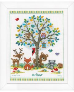 Groves Cross Stitch Cushion Kit Into the Woods