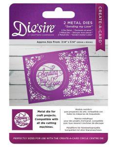 Die'sire Kinetic Inlay Metal Die Die - Sending My Love (Original)