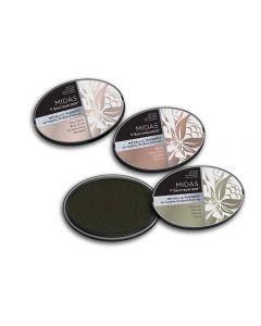 Midas by Spectrum Noir Metallic Pigment 3PC Inkpads - Precious Metals
