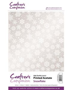 Crafter's Companion Printed Acetate - Snowflake