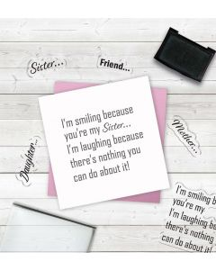 Crafter's Companion Clear Acrylic Stamps - I'm Smiling Because...