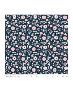 Riley Blake Blush Fabric - RBSC8011 BLUE