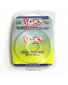 Stix2 Clear Foam on a Roll 5mm x2mm x 1.5m Approx