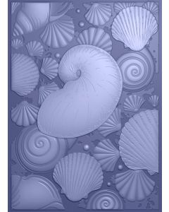 Sara Signature Nautical 3D Embossing Folder - Seashell Medley