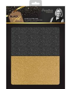 Sara Signature Black and Gold Collection - Luxury Glitter Card