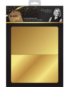 Sara Signature Black and Gold Collection - Luxury Mirror Card