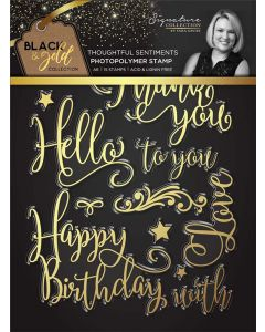 Sara Signature Black and Gold Collection Photopolymer Stamp - Thoughtful Sentiments