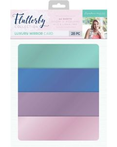 Sara Signature Flutterby Collection Luxury Matt Mirror Card