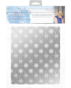 Sara Signature Winter Wonderland - Luxury Printed Acetate