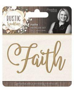 Sara Signature Rustic Wedding Metal Die - Faith