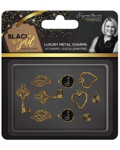 Sara Signature Black and Gold Collection - Metal Charms