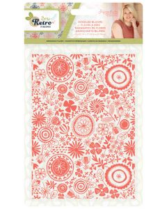 "Sara Signature Sew Retro 5x7"" Embossing Folder - Doodled Blooms"