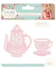 Sara Signature Vintage Tea Party Collection Metal Die - Afternoon Tea