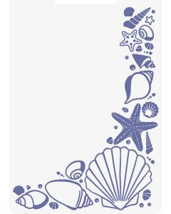 Sara Signature Nautical 2D Embossing Folder - Seashell Corner