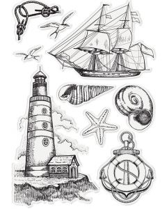 Sara Signature Nautical Acrylic Stamp - Sara Signature Nautical Elements