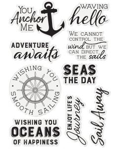 Sara Signature Nautical Acrylic Stamp - Seas the Day