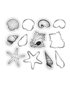 Sara Signature Nautical Die and Stamp set - Seashells