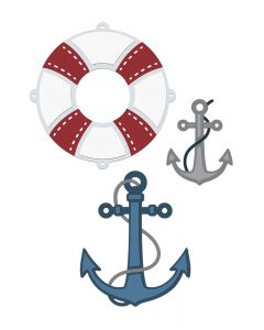 Sara Signature Nautical Metal Die - Anchors Aweigh