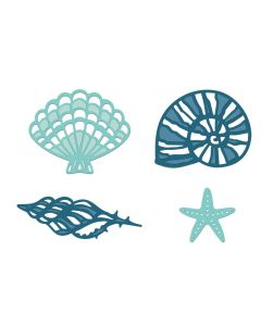 Sara Signature Nautical Metal Die - Fancy Shells