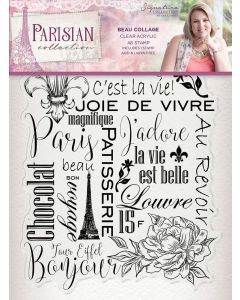 Sara Signature Parisian Acrylic Stamp - Beau Collage