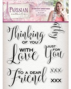 Sara Signature Parisian Acrylic Stamp - Everyday Greetings