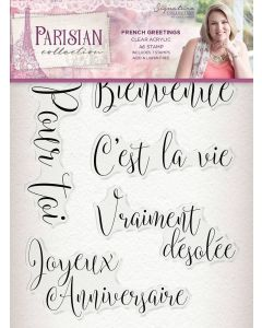 Sara Signature Parisian Acrylic Stamp - French Greetings