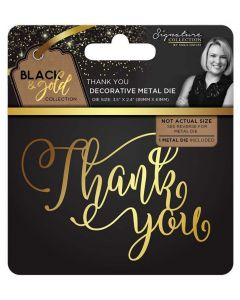 Sara Signature Black and Gold Collection Metal Die - Thank You