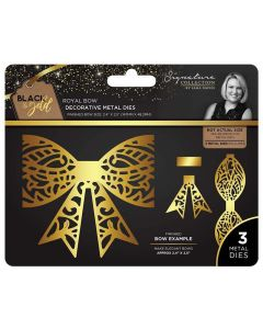 Sara Signature Black and Gold Collection Metal Die - Royal Bow