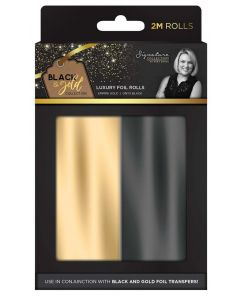 Sara Signature Black and Gold Collection - Foil Rolls (2PK)