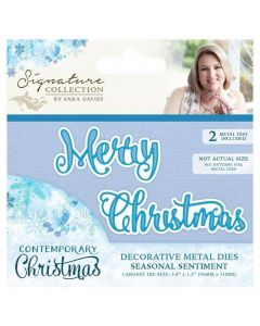 Sara Signature Contemporary Christmas Collection - Seasonal Sentiment Die