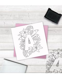 Crafter's Companion Clear Acrylic Stamp - Letter A