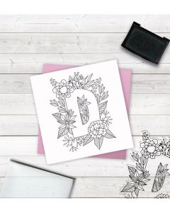 Crafter's Companion Clear Acrylic Stamp - Letter D