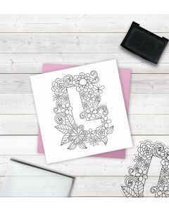 Crafter's Companion Clear Acrylic Stamp - Letter L
