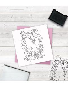 Crafter's Companion Clear Acrylic Stamp - Letter N