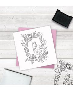 Crafter's Companion Clear Acrylic Stamp - Letter O