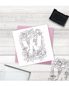 Crafter's Companion Clear Acrylic Stamp - Letter W