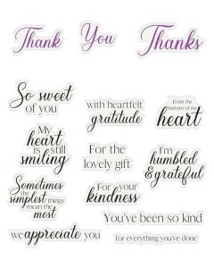 Crafter's Companion Sentiment and Verses Clear Stamps - Thank You