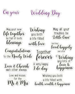 Crafter's Companion Sentiment and Verses Clear Stamps - Wedding