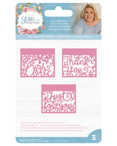 Sara Signature Sew Homemade Metal Dies - Cut-In Sentiments