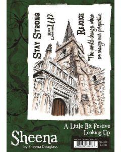 Sheena Douglass A Little Bit Festive A6 Rubber Stamp - Looking Up