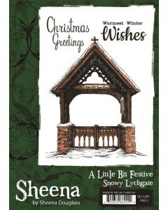 Sheena Douglass A Little Bit Festive A6 Rubber Stamp - Snowy Lychgate